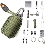 CAMPSNAIL Emergency Survival Kit Grenade - 20 Accessories First Aid Kit Survival Wrapped in 550 lb Paracord Survival Grenade for Emergencies
