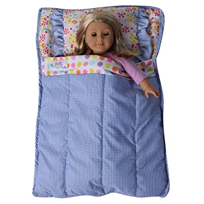 """Baby Whitney Quilted Patchwork 18"""" Doll All-in-One Bed Comforter (Doll NOT Included): Toys & Games"""