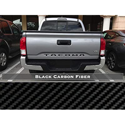 BDTrims Tailgate Raised Letters Compatible with 2016-2020 Tacoma Models (Black Carbon Style): Automotive