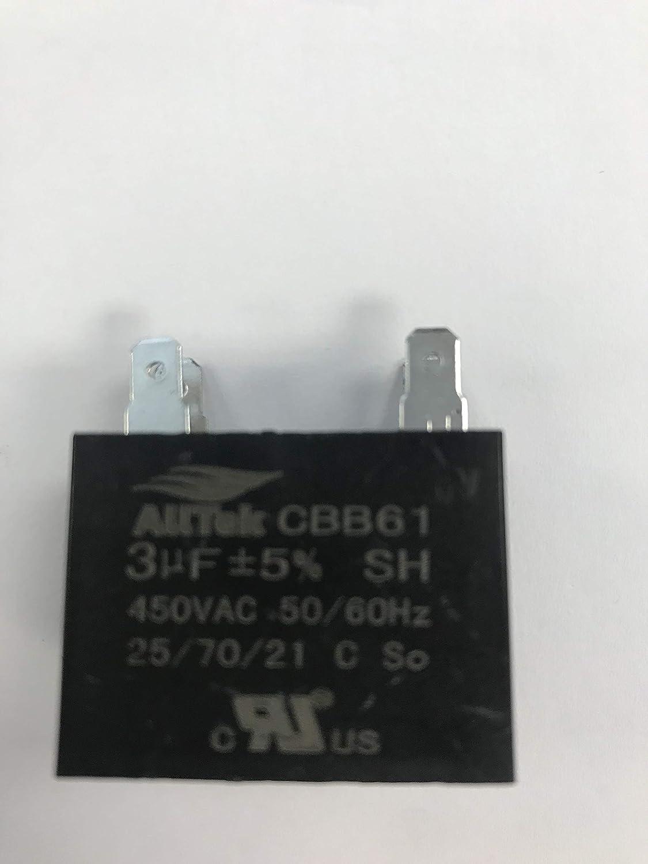 2 uf 450V  2 mfd 50//60HZ HVAC Mini-Split Replacement Capacitor 4 Terminal