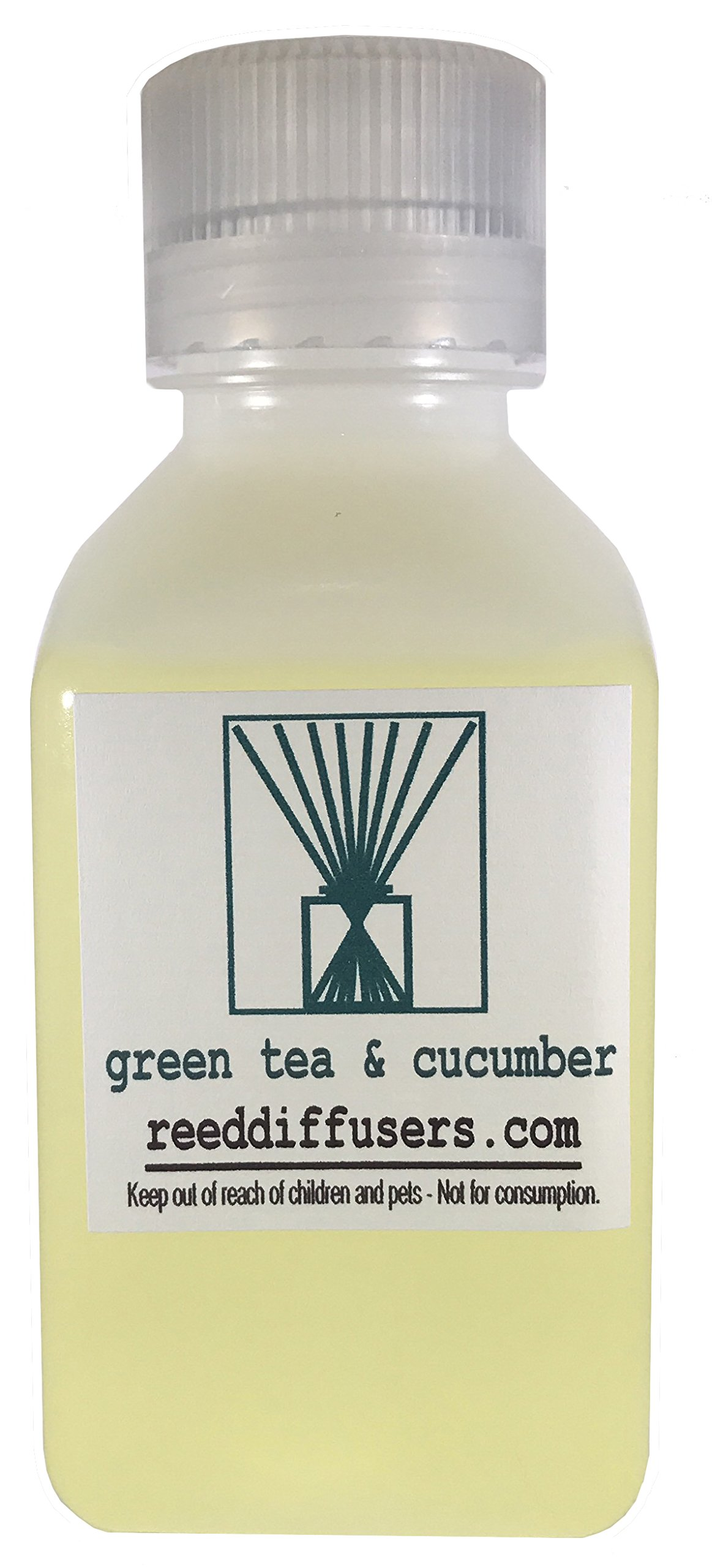 Green Tea & Cucumber Fragrance Reed Diffuser Oil Refill - 8oz - Made in the USA by ReedDiffusers.com