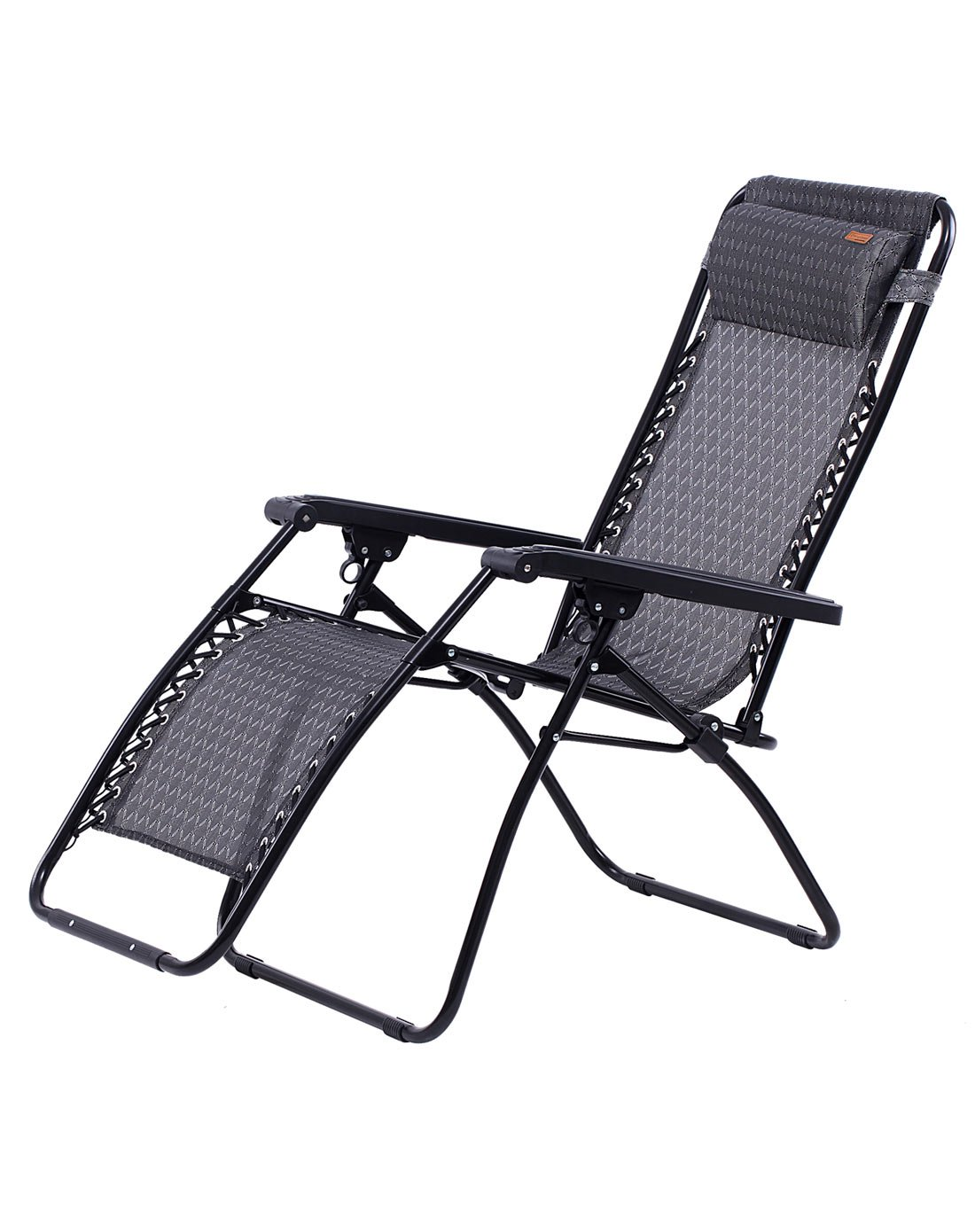 KingCamp Zero Gravity Lounger Patio Chair Textilene Folding Reclining Oversized Free-Adjustable with Headrest Pillow for Garden Outdoor Yard Beach Support 264lbs