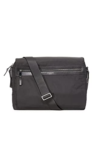 04ddc4370322 Amazon.com: Michael Kors Men's Kent Nylon Large Messenger Bag, Black ...