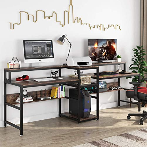 Tribesigns 94.5 inch Double Computer Desk