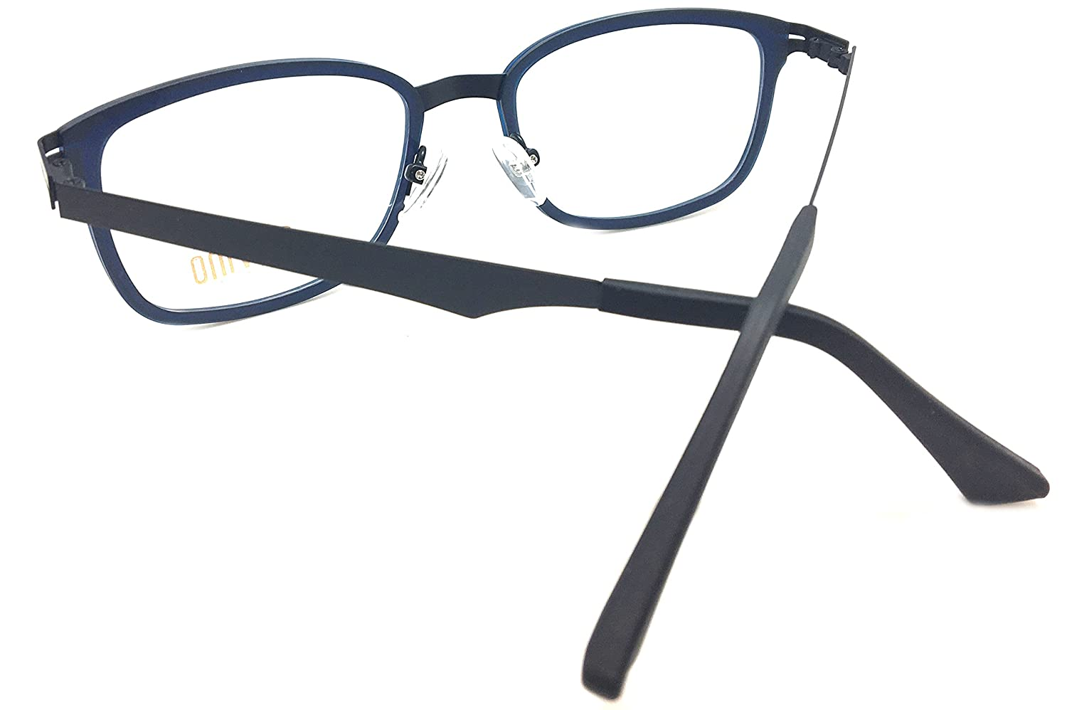 c275211a6ea Amazon.com  Piovino New Soltax Eye Glasses Frame Metal and Ultem 5606 0909M  Blue Bl  Clothing
