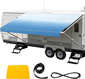 Amazon.com: VEVOR RV Awning 20' Camper Awning Fabric ...