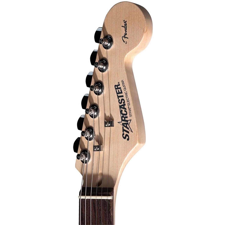 fender starcaster strat electric guitar white amazon co uk