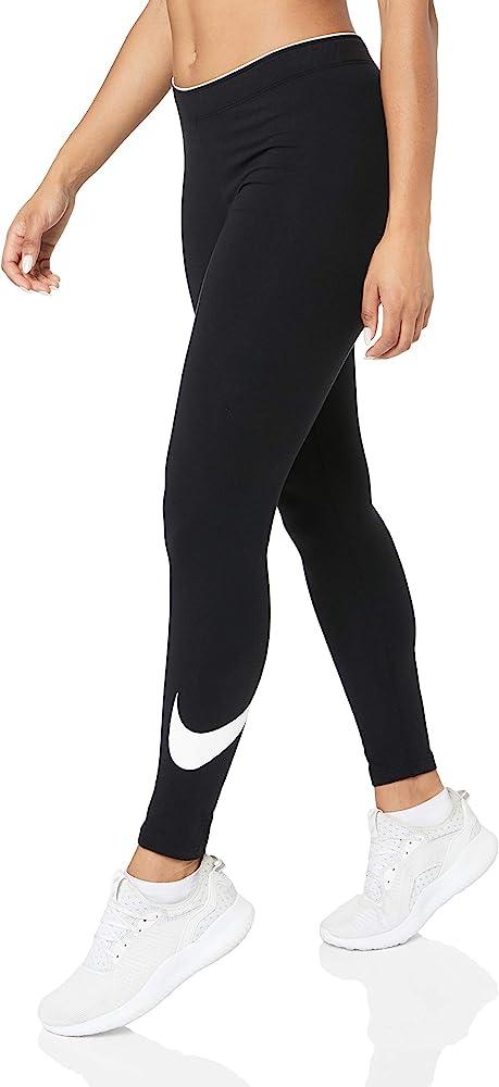 Amazon Com Nike Womens Sportswear Club Logo2 Legging 815997 010 Xs Black Nike Clothing