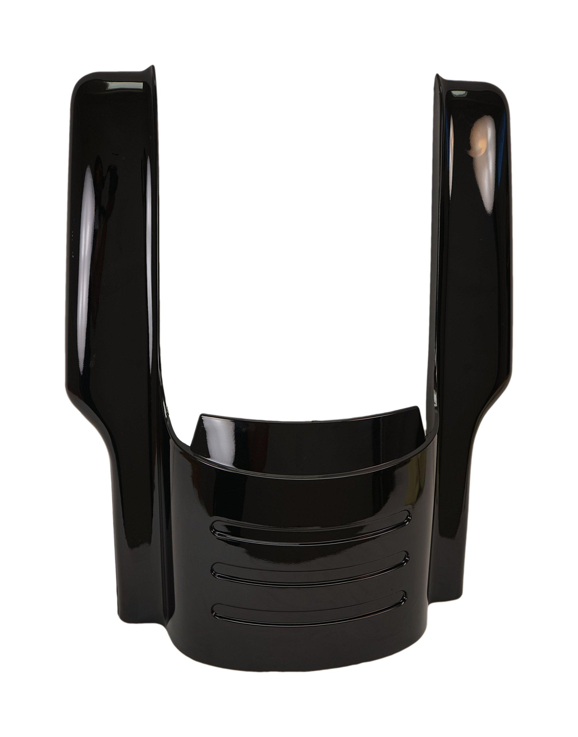 Vivid Black 09 & Up 7'' Fender Filler Extension for Harley Touring