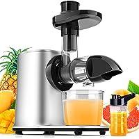 Licuadora Prensado en Frio, Licuadora para Verduras y Frutas con 2 Velocidades, Extractor de Zumo con Función Inversa…