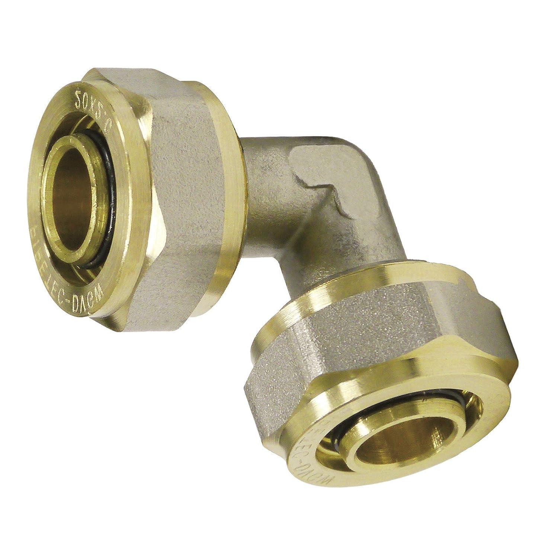 DVGW hasta max.100//°C Uba HDCP pipetec Borne ubfitting /ángulo 16/x 2/mm 90//° para compuesto de multicapa de tubo