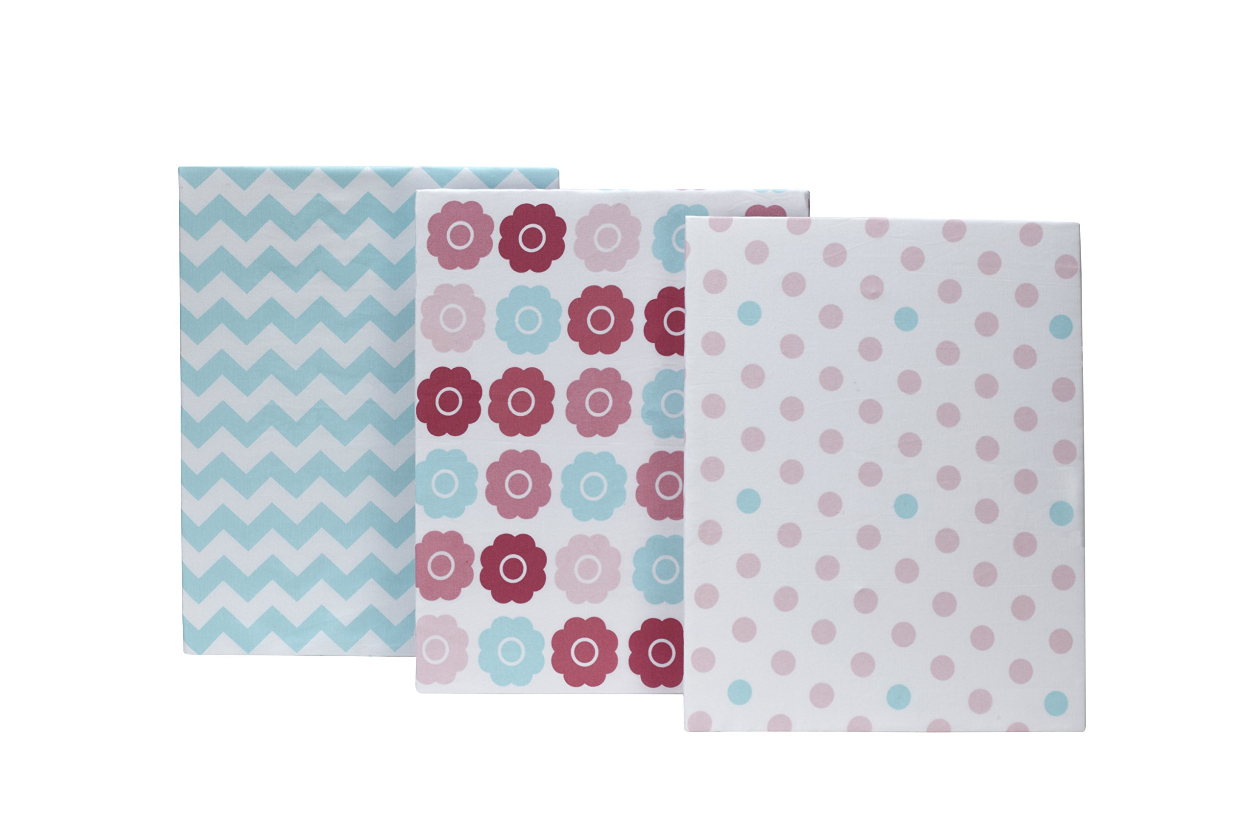 Little Bedding by NoJo 3 Piece Crib Sheet, Tickled Pink
