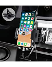 Support Téléphone Voiture Universel【Nouvelle Version】 Quntis Support Voiture d'Air Vent pour GPS iPhone X 8 7 Plus Se 6S Samsung Galaxy S6 S7 Blackberry Nexus HTC Motorola Sony