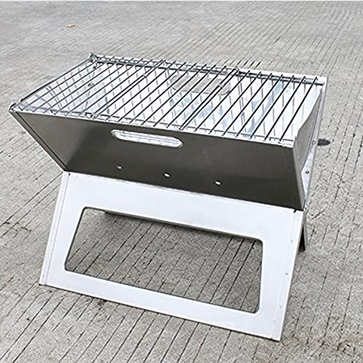 Simple Elegant AGPtek Foldable Portable Barbecue Stainless Steel Grill Hotspot Notebook Easy Storage BBQ Charcoal Grill For Outdoor Hiking Camping Amazon Patio Ideas - Simple Elegant portable barbecue grill Pictures