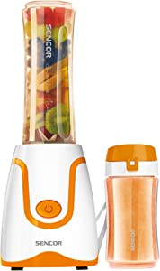 Sencor SBL2203OR 300W Smoothie Blender with 2 Impact Resistant BPA Free Bottles, Orange