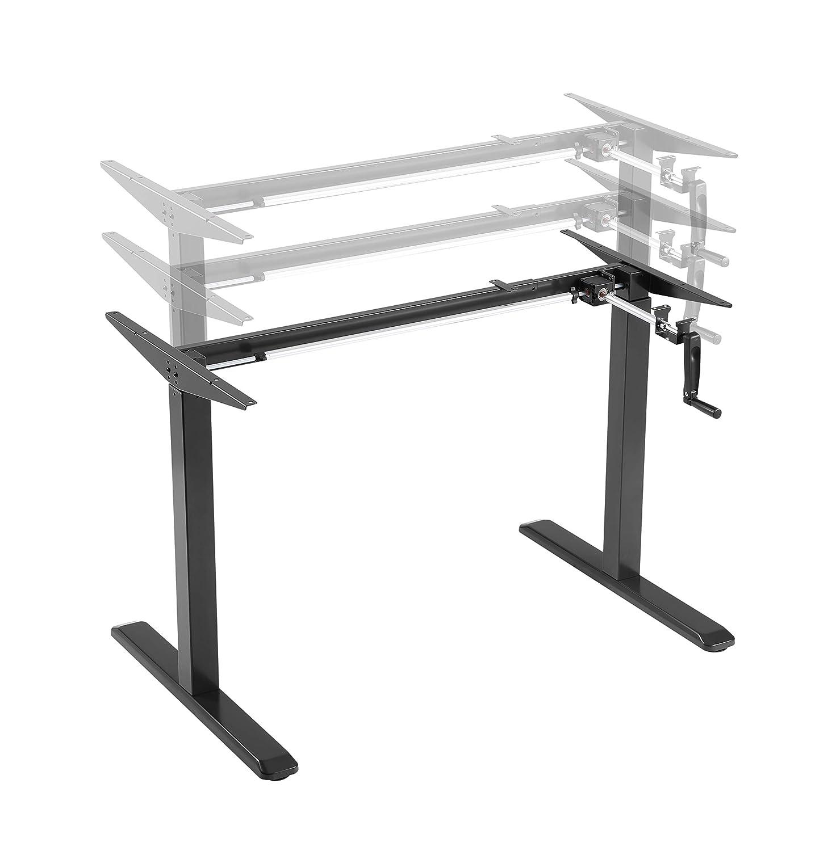 Grau ALLDREI elektrisch stufenlos h/öhenverstellbarer Schreibtisch Mit Speicher-Steuerung und Erinnerungsfunktion.