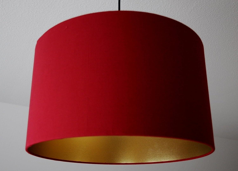 Lampenschirm 'Weinrot-Gold' D 40cm. Farbe und Grö ß e auf Anfrage