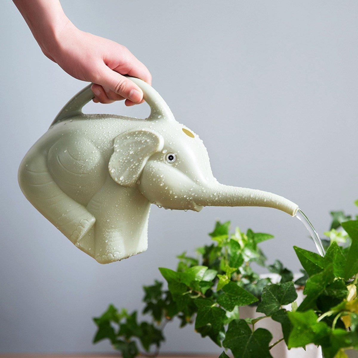 SaveStore Garden Plastic Elephant Watering Can 2 Quart 1/2 Gallon Home Patio Lawn Gardening Tool Plant Outdoor Irrigation Watering Pot Jug