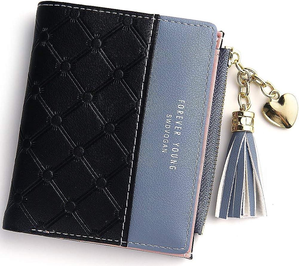 Amazon.com: Cartera pequeña compacta para mujer, billetera ...