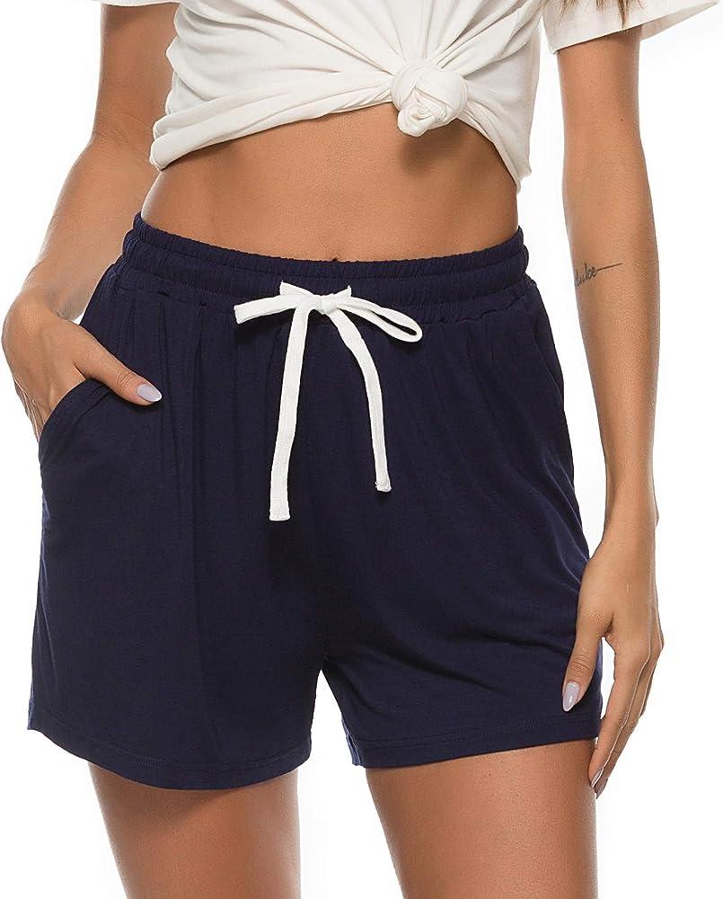 Vlazom Pantalones Cortos de Pijama Mujer Verano - Algodón, Partes de Abajo de Pijamas para Mujer: Amazon.es: Ropa y accesorios
