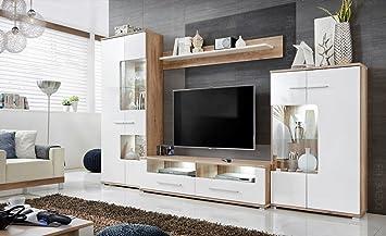 Meubles Rangements Sohalia Avec Armoire Pour Salon Tv Led Amazonfr