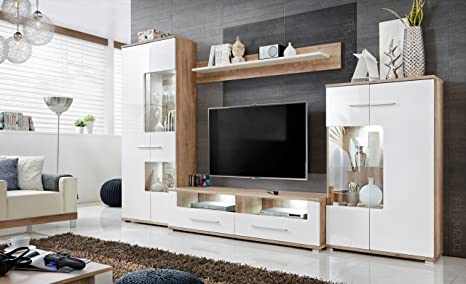Mobili scomparti Sohalia con armadio per soggiorno TV LED: Amazon.it ...