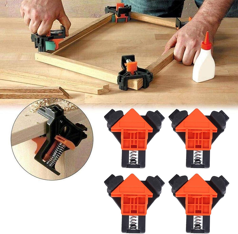 Klemmen f/ür die Holzbearbeitung Alinory Starker Eckklemmclip Schrankm/öbel f/ür die Tischlerei Fotorahmen Praktische 4-teilige rechtwinklige Winkelklemme