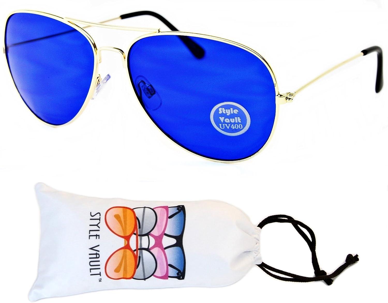 A70-vp Style Vault Aviator Metal Colorful Sunglasses