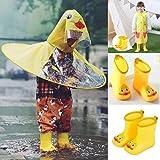 Joint Kids Rain Shoes,Infant Cartoon Duck Rubber