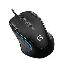 ゲーミングマウス ロジクール G300s プログラム可能ボタン 左右対称