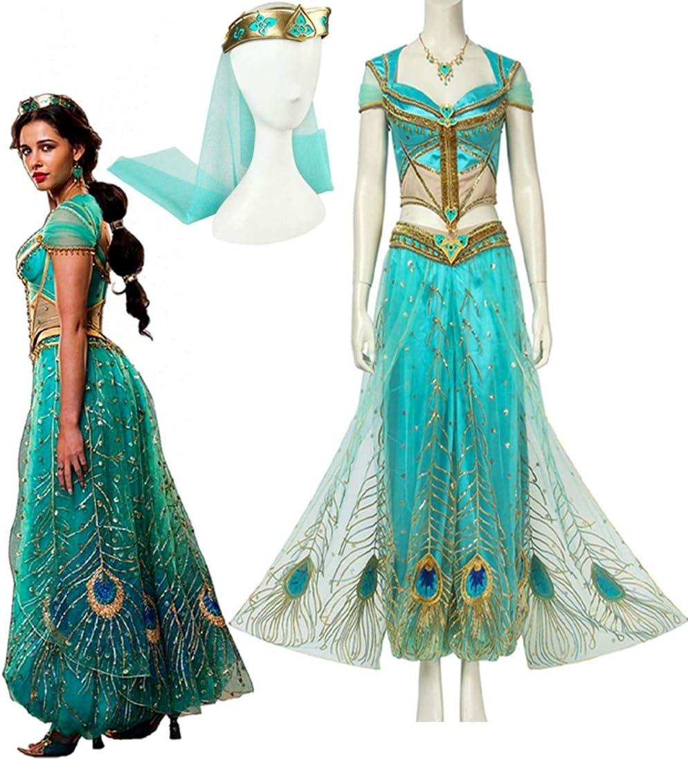 Rubyonly Vestido de los Trajes de la película Aladdin Cosplay ...