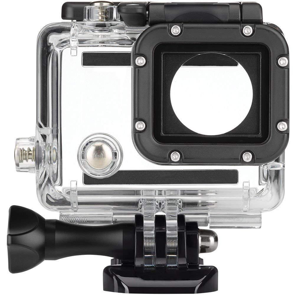 交換用ハウジングUnderwater、Hangang防水ハウジングGo Pro Diving保護アクセサリー(ハウジング+レンズ+ J -フックバックル) for GoPro Hero 4 /3 +/3   B07FNYNYKQ