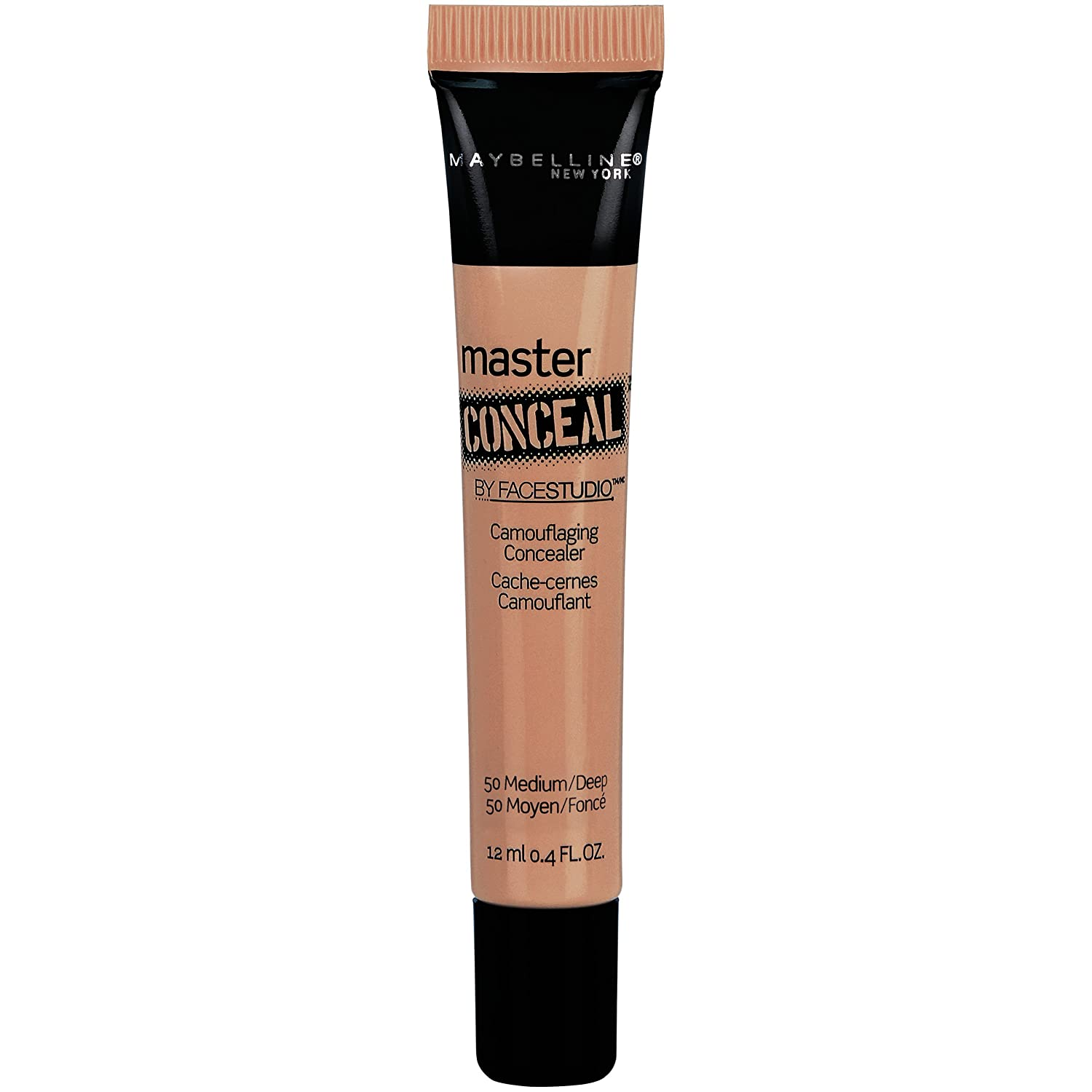 Maybelline New York Face Studio Master Conceal Makeup, Medium/Deep, 0.4 Fluid Ounce, 1 Count K1819700
