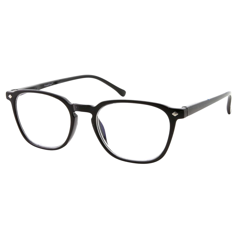 8ae5322519b Amazon.com  Anti Glare Lens Progressive Multifocus Reading Glasses (Black