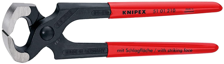 Knipex 51 01 210 Hammerzange schwarz atramentiert mit Kunststoff ü berzogen 210 mm Knipex-Werk - C. Gustav Putsch KG
