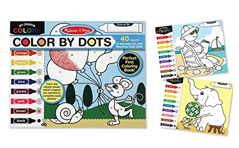 Amazon.com: Melissa & Doug Color by Dots - 40 Pages, Includes ...