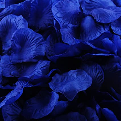 Amazon pack of 1000 silk rose petals artificial flowers for pack of 1000 silk rose petals artificial flowers for decoration wedding party royal blue mightylinksfo