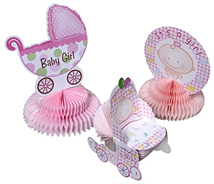 Amazon Com Juvale Baby Shower Decorations 6 Pieces Girl Theme