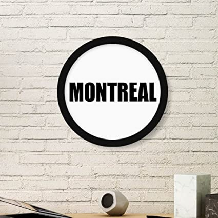 DIYthinker Montreal Canada City Name Art Painting Picture Photo Wooden  Round Frame Home Wall Decor Gift