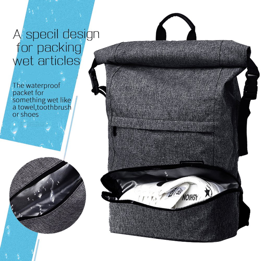 231756cba chic Travel Laptop Backpack for Business, Roll Top, Water Resistance,  Anti-Theft