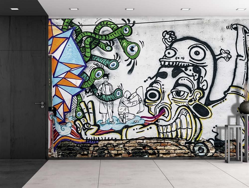 Colorful Graffiti Wall The Image Kid