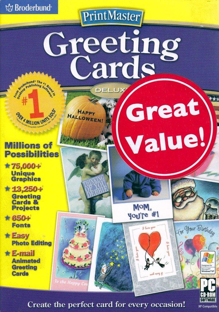 Broderbund PrintMaster Greeting Cards Deluxe 2.0 by Encore