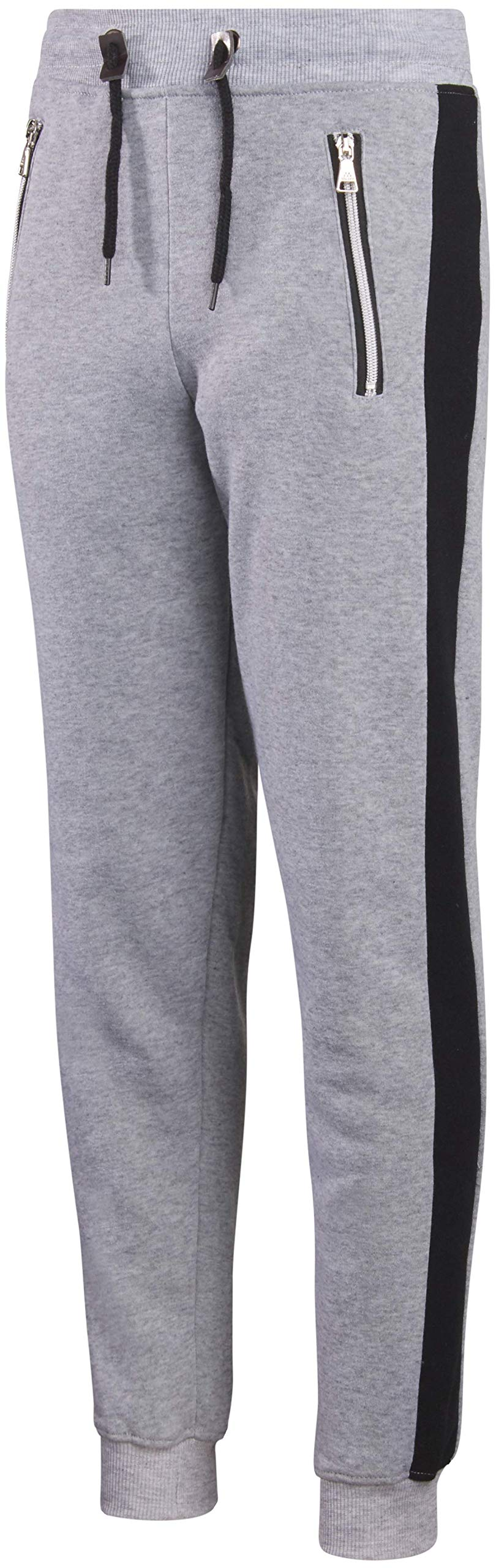 Galaxy by Harvic Boys Active Fleece Jogger Pant with Panel Detail Clothing Active  Pants