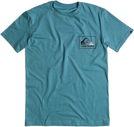 QUIKSILVER de hombre camiseta de la nueva ola - Azul -: Amazon.es: Ropa y accesorios