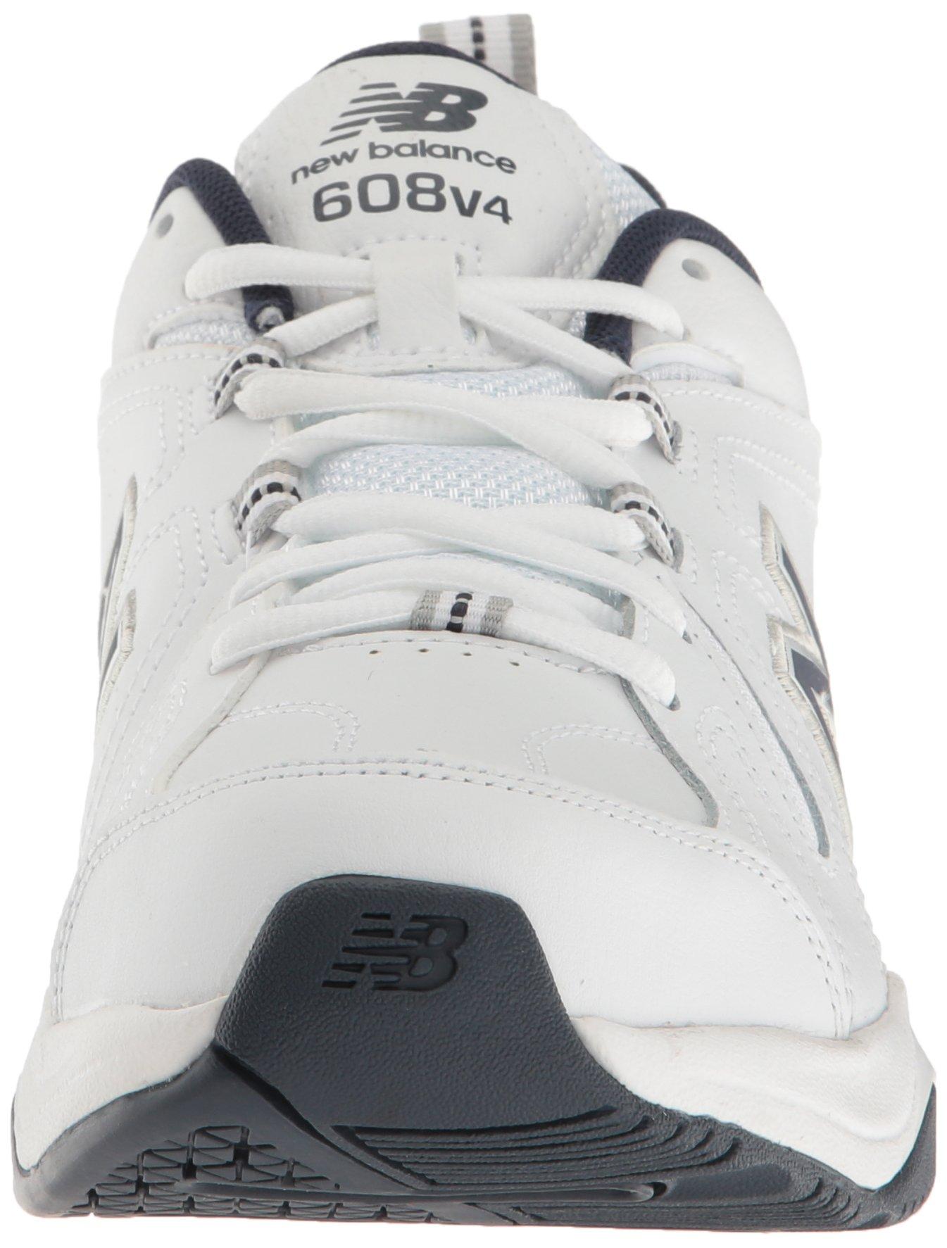 New Balance Men's MX608v4 Training Shoe, White/Navy, 7.5 4E US by New Balance (Image #4)