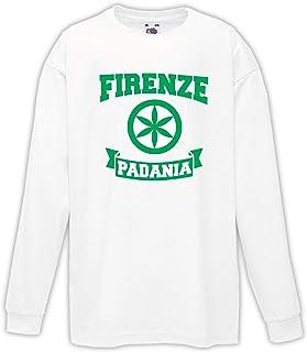 Settantallora - T-Shirt Maglietta Manica Lunga Bimbo J3073 Firenze Citta' della Padania Indipendente ZJ3073_bimbo