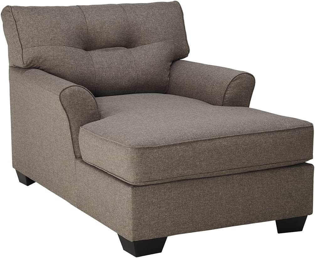 Ashley Furniture Signature Design - Tibbee Contemporary Chaise - Sleek Tailored Design - Slate  sc 1 st  Amazon.com : chaise furniture - Sectionals, Sofas & Couches