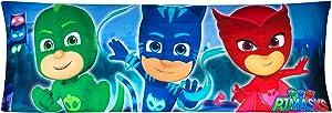 "Franco PE0138 Kids Bedding Super Soft Microfiber Zippered Body Pillow Cover, 20"" x 54"", PJ Masks"