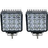 """2 X 48W 4,3"""" work light 4560LM lumière de travail de LED peut être utilisé comme feu-route feu-croisement et un faisceau de brouillard avant et arrière pour véhicules etc 4 X 4 camion Tracteur bateau véhicules industriels 12 V 24 V"""