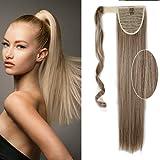 "Coleta Postizo de Velcro Liso Extensiones de Pelo Sintético Postizos para Mujer Ponytail Hair Extensions 23"" 26"""